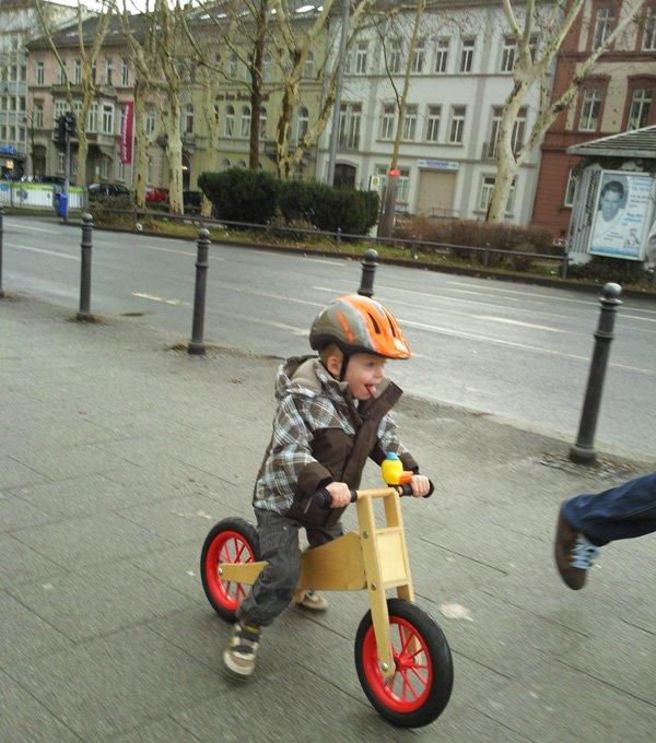 Laufrad Fahren